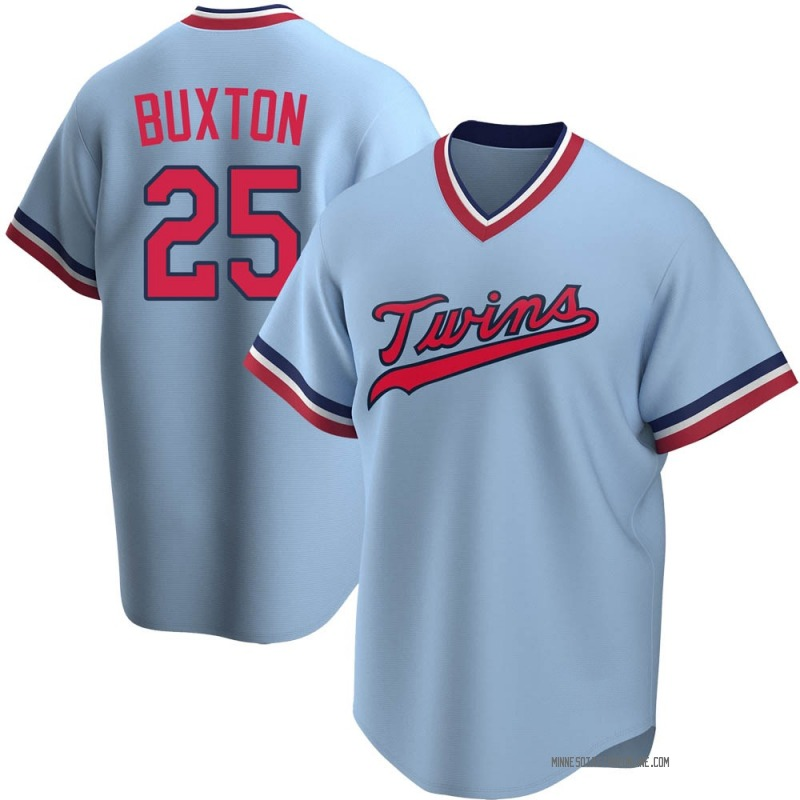 Byron Buxton Men's Minnesota Twins Road Cooperstown Collection Jersey - Light Blue Replica
